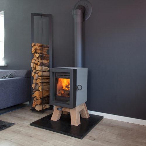 Oak Concrete grey wood base